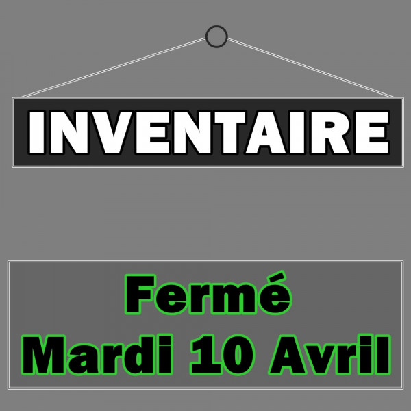 Inventaire du mardi 10 avril